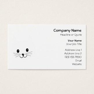 Cara linda del gato tarjeta de negocios