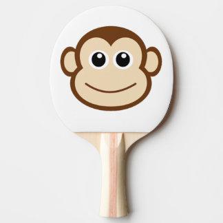 Cara linda del mono del bebé pala de ping pong
