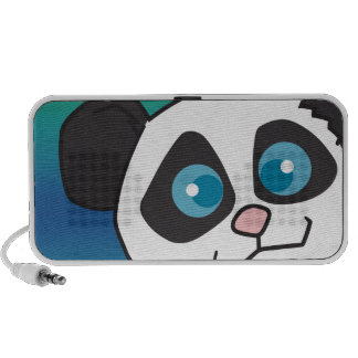 cara linda del oso de panda notebook altavoz
