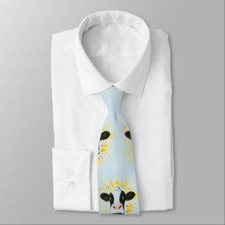 Cara loca de la vaca corbata