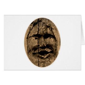 Cara madera face wooden felicitacion