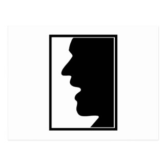 Cara perfil face side face postal