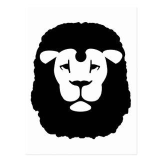 Cara principal del león tarjetas postales