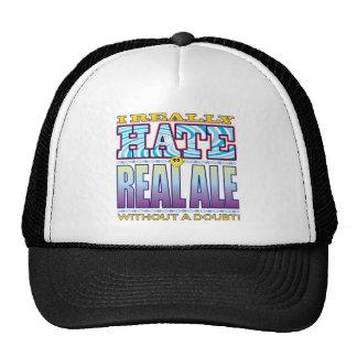 Cara real del odio de la cerveza inglesa gorras