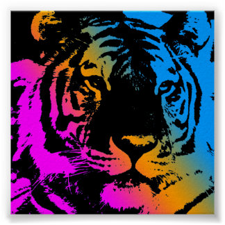 Cara retra del tigre del vintage del tigre 80s de  posters
