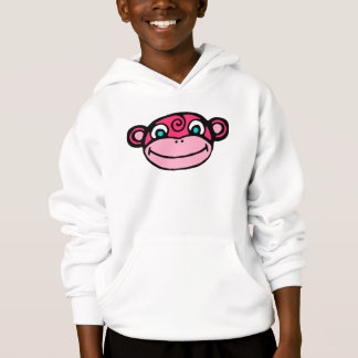 Cara rosada del mono linda