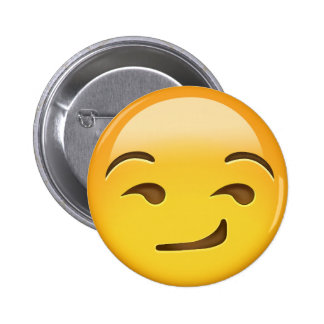 Cara Smirking Emoji Chapa Redonda De 5 Cm