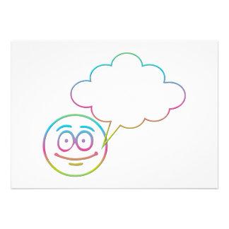 Cara sonriente #1 con la burbuja del discurso