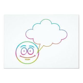 Cara sonriente #1 con la burbuja del discurso invitaciones personalizada