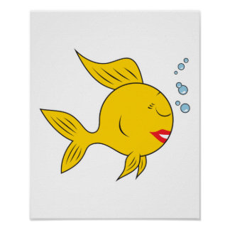 Cara sonriente a pescado posters
