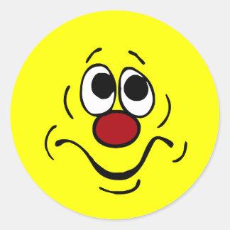 Cara sonriente agujereada Grumpey Pegatina