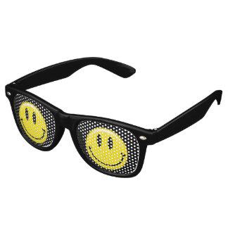 Cara sonriente amarilla clásica gafas de fiesta
