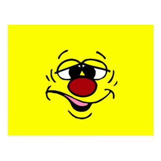 Cara sonriente avergonzada Grumpey Postal