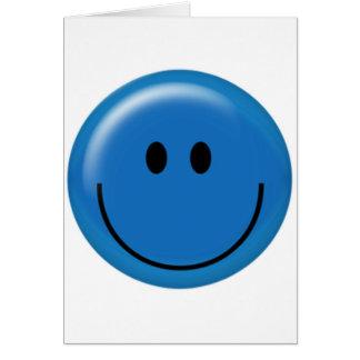 Cara sonriente azul marino feliz tarjeta