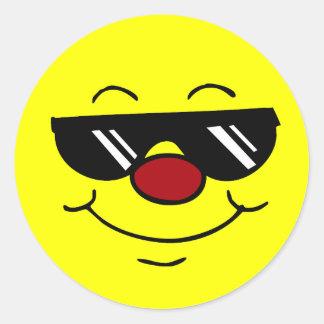 Cara sonriente cambiante Grumpey Pegatinas Redondas
