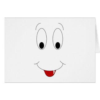 Cara sonriente con el diente tarjeta de felicitación