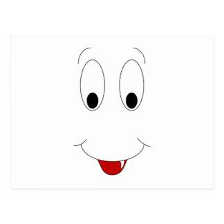 Cara sonriente con el diente tarjeta postal