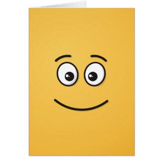Cara sonriente con los ojos abiertos tarjeta de felicitación