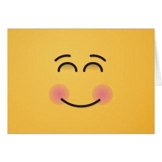 Cara sonriente con los ojos sonrientes tarjeta de felicitación