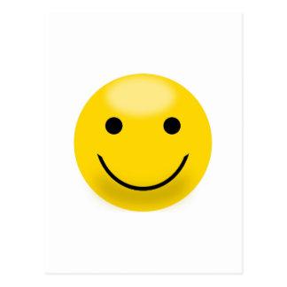 Cara sonriente de la felicidad postal