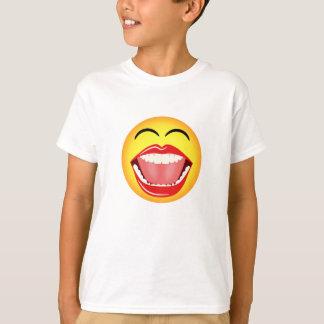 Cara sonriente de risa divertida Emoji de la boca Camiseta
