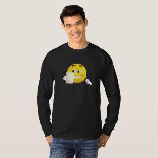 Cara sonriente divertida de Emoji con la cerveza Camiseta