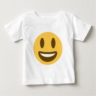 Cara sonriente emoji camiseta de bebé