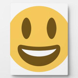 Cara sonriente emoji placa expositora