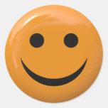 Cara sonriente etiquetas redondas