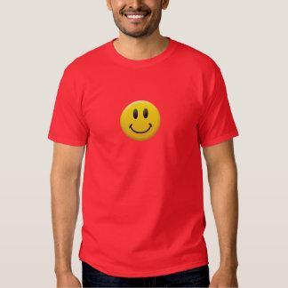 Cara sonriente feliz camisetas