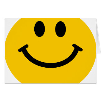 Cara sonriente feliz tarjetón