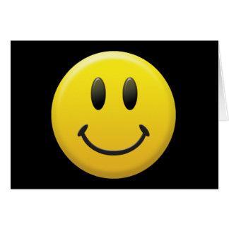 Cara sonriente feliz tarjeta de felicitación