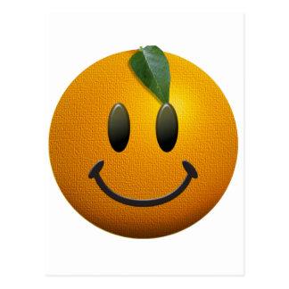 Cara sonriente feliz postales