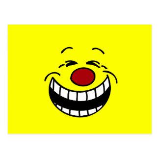Cara sonriente mandona Grumpey Postal