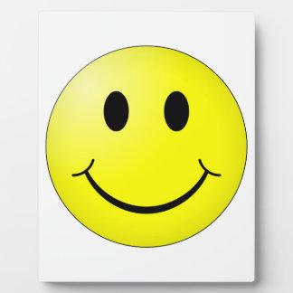 Cara sonriente placa expositora