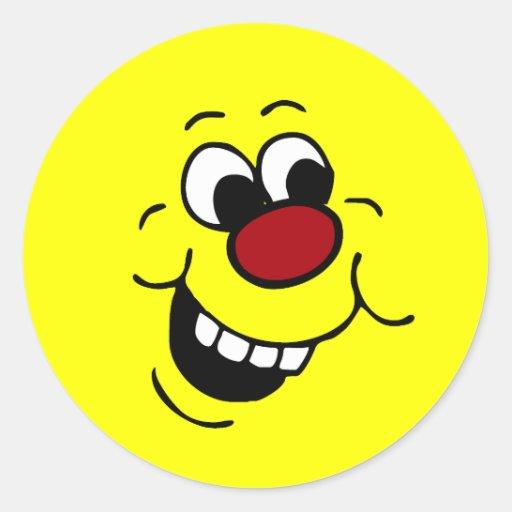Cara sonriente sabia Grumpey Pegatinas Redondas