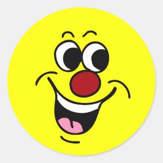 Cara sonriente sonriente Grumpey Etiquetas