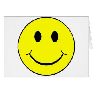 cara sonriente tarjeta de felicitación