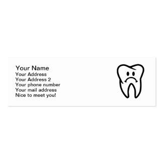Cara triste del diente plantilla de tarjeta de visita