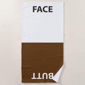 Cara y toalla del extremo