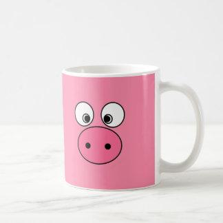 ¡Cara y vago rosados del cerdo! Taza De Café