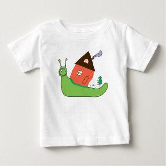 caracol camiseta de bebé