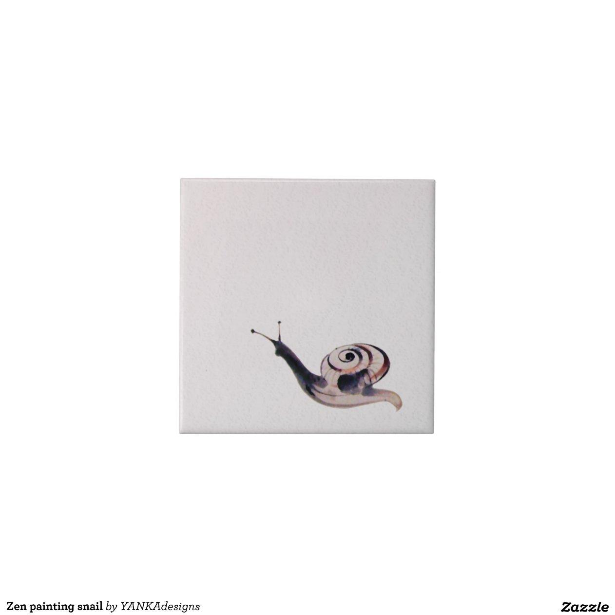 Caracol de la pintura del zen azulejos zazzle - Pintura para azulejos opiniones ...