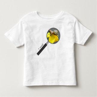 Caracol en un narciso camiseta de niño