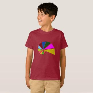 Caracol juguetónamente geométrico camiseta