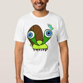caracol y mariposa krazy camiseta