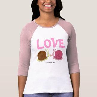 Caracoles en señoras del amor 3/4 raglán de la camiseta