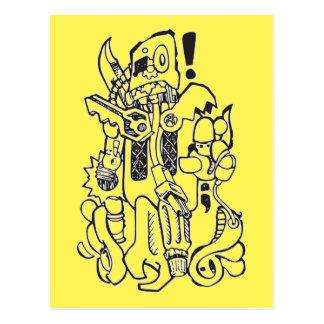 Carácter anticuado de los desperdicios/del robot postal
