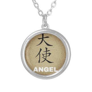 Carácter chino del ángel colgante redondo