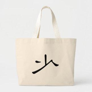 Carácter chino: shao, significando: poco, pocos, y bolsa tela grande